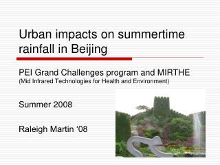 Urban impacts on summertime rainfall in Beijing