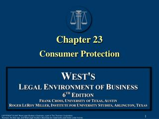 Chapter 23 Consumer Protection