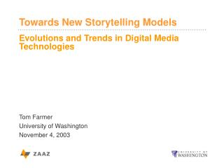 Evolutions and Trends in Digital Media Technologies