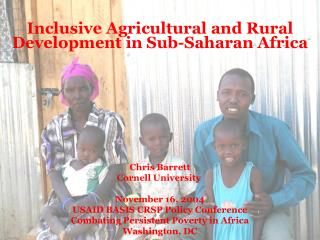 Inclusive Agricultural and Rural Development in Sub-Saharan Africa