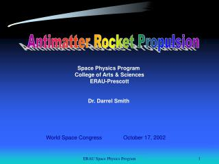Antimatter Rocket Propulsion