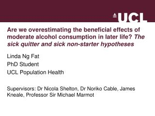 Linda Ng Fat PhD Student UCL Population Health