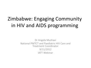 Zimbabwe: Engaging Community in HIV and AIDS programming