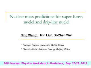 Nuclear mass predictions for super-heavy nuclei and drip-line nuclei