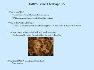 DARPA Grand Challenge '05