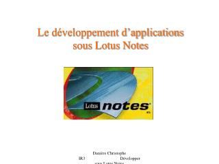 Le d veloppement d applications  sous Lotus Notes