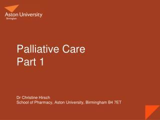 Palliative Care Part 1