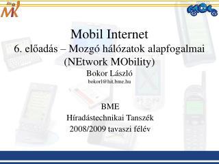 BME Híradástechnikai Tanszék 2008/2009 tavaszi félév