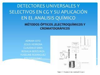 DETECTORES UNIVERSALES Y SELECTIVOS EN CG Y SU APLICACIÓN EN EL ANALISIS QUÍMICO