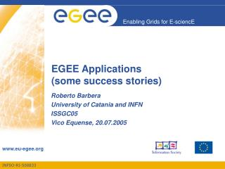 EGEE Applications (some success stories)