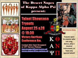 The Desert  Nupes of Kappa Alpha Psi p resent: