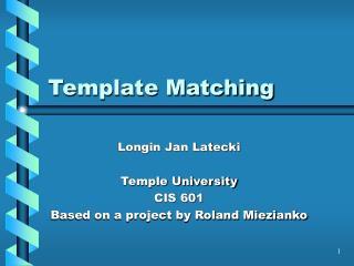 Template Matching