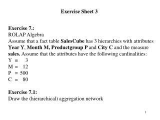 Exercise Sheet 3