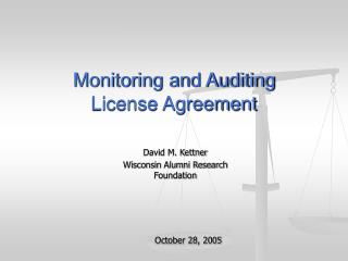 Monitoring and Auditing  License Agreement