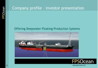 Offering Deepwater Floating Production Systems