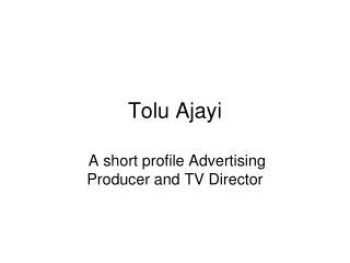 Tolu Ajayi