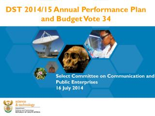 DST 2014/15 Annual Performance Plan and Budget Vote 34