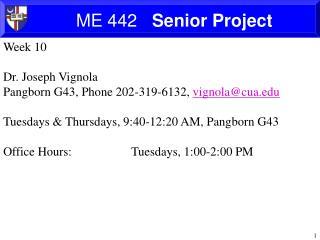 ME 442    Senior Project