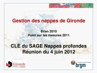Missions 2011 du BRGM