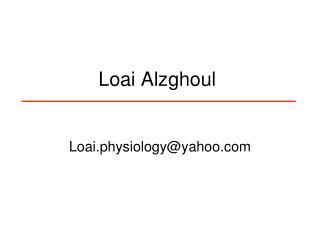 Loai Alzghoul