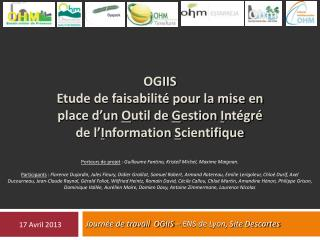 Journée de travail  OGIIS – ENS de Lyon, Site Descartes