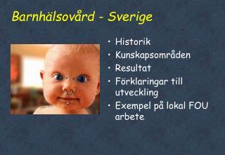 Barnhälsovård - Sverige