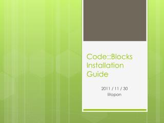Code::Blocks Installation Guide