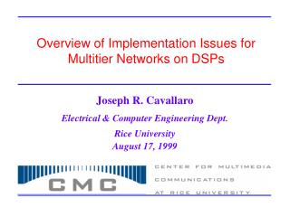 Overview of Implementation Issues for Multitier Networks on DSPs