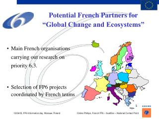 """Potential French Partners for """"Global Change and Ecosystems"""""""