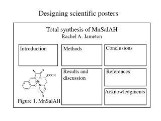 Designing scientific posters