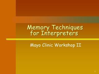Memory Techniques for Interpreters