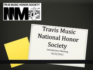 Travis Music National Honor Society