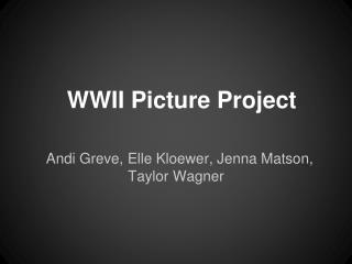 WWII Picture Project