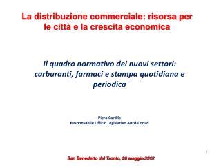 La distribuzione commerciale: risorsa per le città e la crescita economica
