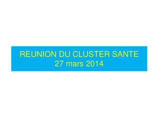 REUNION DU CLUSTER SANTE 27 mars 2014