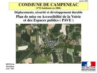 COMMUNE DE CAMPENEAC 1711 habitants en 2006