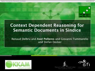 Context Dependent Reasoning for Semantic Documents in Sindice