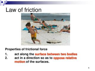 Law of friction