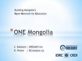 ONE Mongolia