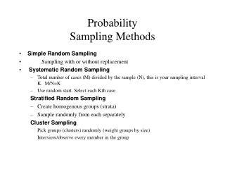 Probability Sampling Methods