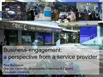 Business-engagement:  a perspective from a service provider  Paul Blackmore Director, Centre for Employability Enterpris