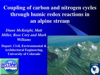 Coupling of carbon and nitrogen cycles through humic redox reactions in an alpine stream