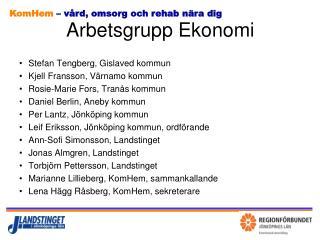 Arbetsgrupp Ekonomi