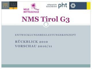 Entwicklungsbegleitungskonzept  R�ckblick 2010 Vorschau 2010/11