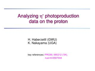Analyzing     photoproduction  data on the proton