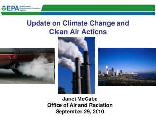 Update on Climate Change and Clean Air Actions