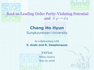 Next-to-Leading Order Parity-Violating Potential and