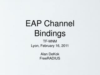 EAP Channel Bindings