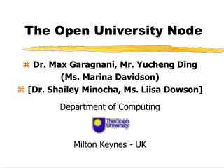 The Open University Node