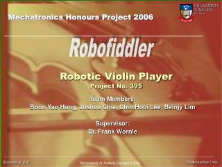 Robotic Violin Player Project No. 395